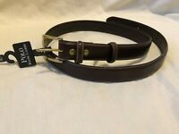 RALPH LAUREN Polo Dark Brown Italian Leather Dress Belt Mens size 40 NEW NWT