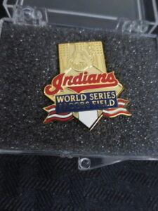 1995 Cleveland Indians World Series Press Pin vs Atlanta Braves