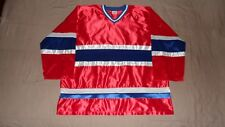 Vintage Montreal Canadiens Red Hili Men's Size XL Satin NHL Hockey Jersey RARE