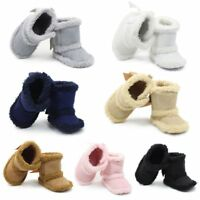 Baby Girl Boy Newborn Slipper Anti-slip Socks Warm Shoes Boots Moccasin 0-12M US