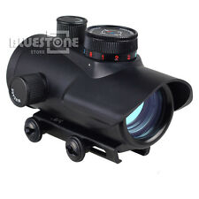 Holographic Tactical 30mm Red Green Blue Dot Sight Rifle Scope 20mm Weaver Mount