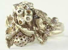 Life Ocean Modernist Ring Vtg Babs Sterling Silver Sea