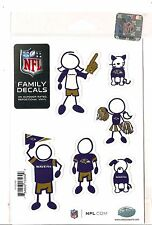 New NFL BALTIMORE RAVENS Set of 6 Individual Small Family Car Auto Decals