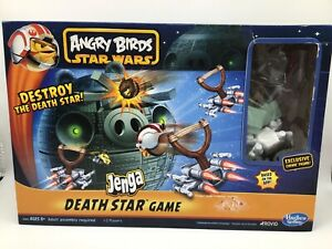 Angry Birds Star Wars Jenga Death Star Board Game Hasbro 2012 COMPLETE