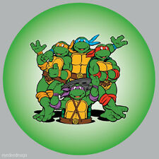 70 x Teenage Turtle Stickers Non Personalised Labels Party Bag Sweet Cone -r300