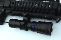 Tactical LED Gun FLASHLIGHT 800 Lumens Rifle Shotgun Picatinny mount Battery
