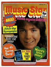 MUSIC STAR ✂ Magazine 25/5/1974 David +Zowie Bowie Cassidy Suzi Slade Marc Bolan