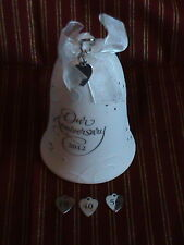 Hallmark Ornament 2012 Our Anniversary Bell with charms for 10,25,40 & 50 years