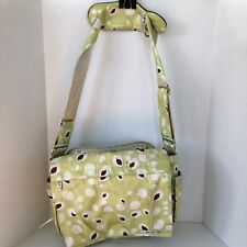 Ju Ju Be Better Be Diaper Bag Changing Pad Crossbody Strap Lime Green Brown Rare