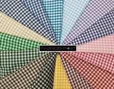 FabricByPost® Vintage Gingham Dyed 3mm Check Plaid Pattern Fabric Sold Per Metre