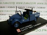 2CVAP55G voiture 1/43 ELIGOR Autoplus CITROËN 2CV n°32 Jules à mitrailleuse