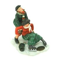 Vintage Couple Skating She Falls He Catches Heritage Village Dept 56 Accessories