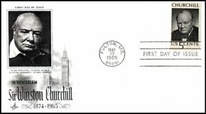 USA FDC 1965 Winston Churchill Memorial First Day Cover