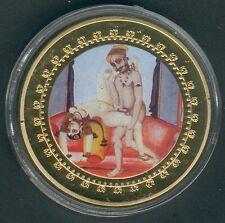 "1 Coin(gilded)/Medal 40mm, 27g, Kamasutra ""gesp. Bambus"" Proof Like+Zertifikat"
