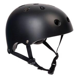 PEDALPRO MATT BLACK BMX/SKATE HELMET BIKE/BICYCLE/CYCLE/SCOOTER SAFETY BOMBER