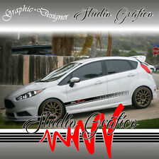 2 FASCE ADESIVE DECAL STICKERS SOTTOPORTA FORD FIESTA TUNING SPORT
