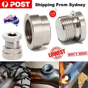 1 Set O2 Oxygen Sensor Weld On Bung&Plug Wideband Nut Cap Kit For M18 Thread AU