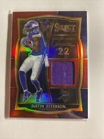 2020 PANINI SELECT JUSTIN JEFFERSON DRAFT SWATCHES ROOKIE PATCH CARD DS-JJE