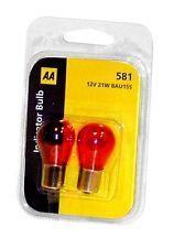 20 x AA Amber Signal  Indicator Flasher Light bulbs BAU15S [581] 12v 21w e mark
