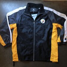 Men's Vintage Starter Pittsburgh Steelers Black Yellow Windbreaker Jacket Sz XL