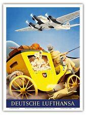 Junkers JU-52 Aircraft Vintage Airline Travel Art Poster Print