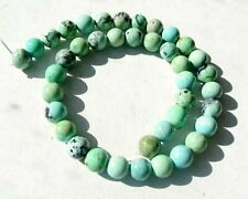 """Robin Egg Blue Natural USA 10-11mm Turquoise Round 18 Bead 8"""" Strand 7416BHS"""