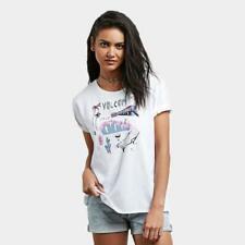 VOLCOM Womens Ride The Stone Short Sleeve T-Shirt   White