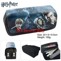 Harry Potter Pencil Case Student Stationery Bag Anime Zipper Cosmetic Bag Gift