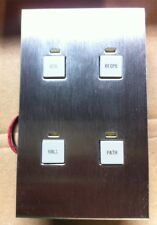 LiteTouch Savant 4 Btn Control Station, Assembly, Steel Plate, Wall Switch