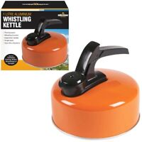 16cm 1L Aluminium Whistling Kettle Hob Camping Fishing Coffee Tea Pot
