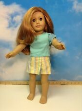 American Girl Doll  Mia, Red Hair Green Eyes Freckles (2)