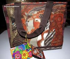 Laurel Burch Horse Moroccan Mares Arabian Andalusian Medium Small Tote Bag New