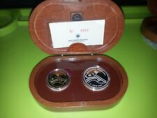 Malaysia 45th National Day Proof Coin set of 2 2002 RR
