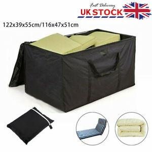 Large Waterproof Outdoor Garden Cushion Storage Bag Fully Zipped Water Resistant