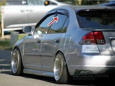 For 01-05 Honda Civic Sedan JDM Smoke Tinted Side Vents Window Visors Rain Guard