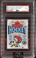 1992 O-Pee-Chee Hockey Wax Pack w/ Brett Hull Rookie Insert on Top PSA 9 Mint
