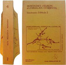Montagnes d'Europe et d'Himalaya occidental 1984 Claude Dendaletche biocénoses 2