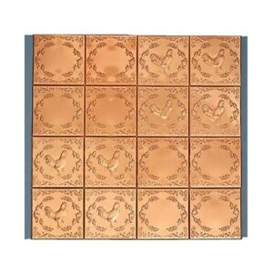 QTY 16 Copper Rooster Kitchen Back Splash Metal Wall Tile Stove Sink 4 Sq Feet