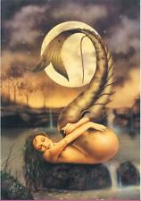 Home Decor HD Art Print Canvas  Painting cartoon,mermaid, moon 20X28