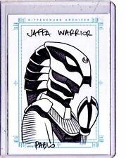 "Stargate   ""Jaffa Warrior""  sketch card by Pablo"