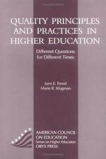 Quality Principles And Practices In Higher Education: Different Questi-ExLibrary