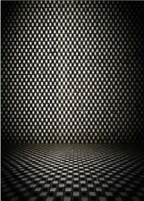 5x7FT Black White Plaid Floor studio Backdrop Vinyl Photography Photo Background