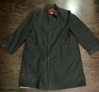 VINTAGE ALL WEATHER TRENCH RAIN COAT CAMPUS W REMOVABLE LINER MENS SIZE 42 BLACK