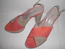 Bellissime scarpe di camoscio pelle Made in Italy, misura 37