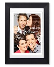 WILL & GRACE CAST SIGNED TV SHOW SERIES SEASON 11 POSTER PHOTO AUTOGRAPH GIFT