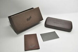 Brand New Persol Authentic Eyeglass Case in Brown Exclusive Typewriter Edition