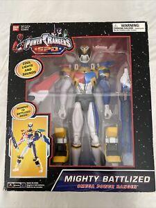"""Power Rangers SPD 12"""" Omega Ranger White Battlized New Electronic Lights & Sound"""