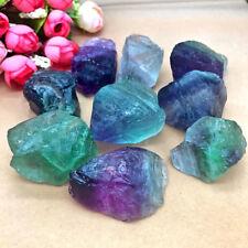 Rare Natural Fluorite Quartz Crystal Stones Rough Polished Gravel Specimen