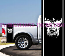 Skull Side Dodge Chevy Toyota Bed Stripes Truck Decals Stickers Set of 2 Racing