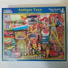 White Mountain 1000 Pieces Puzzle Antique Toys 2016 New without Wrapping